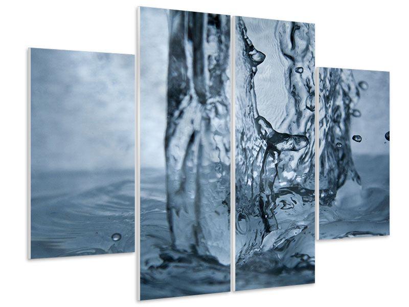 Hartschaumbild 4-teilig Wasserdynamik