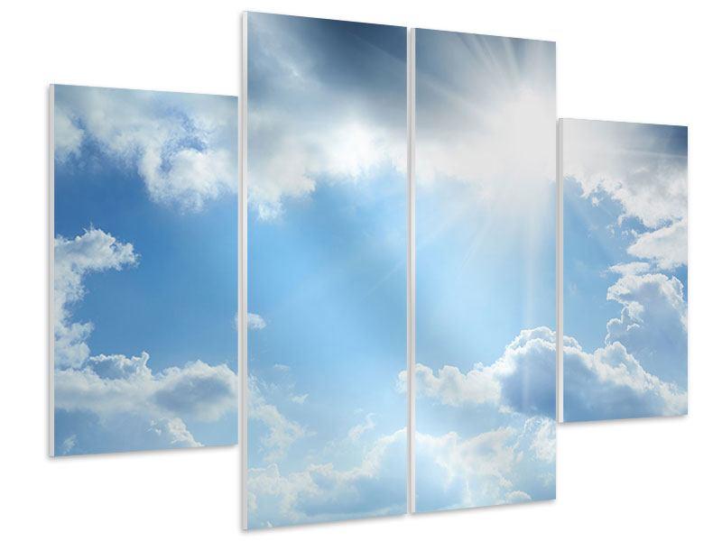 Hartschaumbild 4-teilig Himmelshoffnung