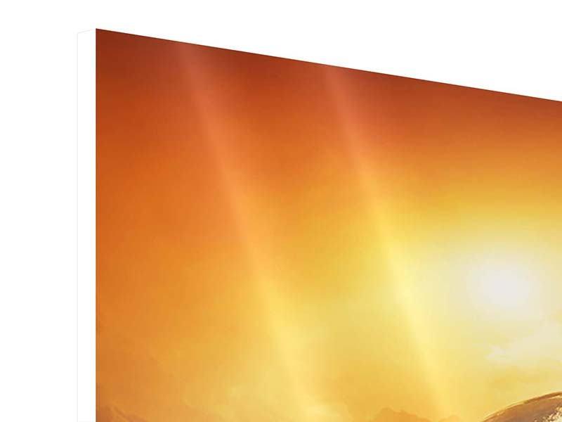 Hartschaumbild 4-teilig Mystischer Planet Erde