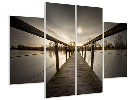 Hartschaumbild 4-teilig Die Holzbrücke