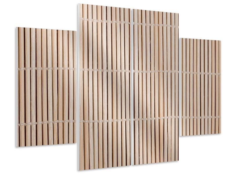 Hartschaumbild 4-teilig Lucky Bamboo