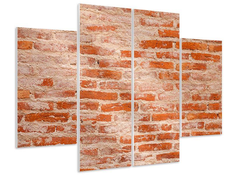 Hartschaumbild 4-teilig Mauerwerk