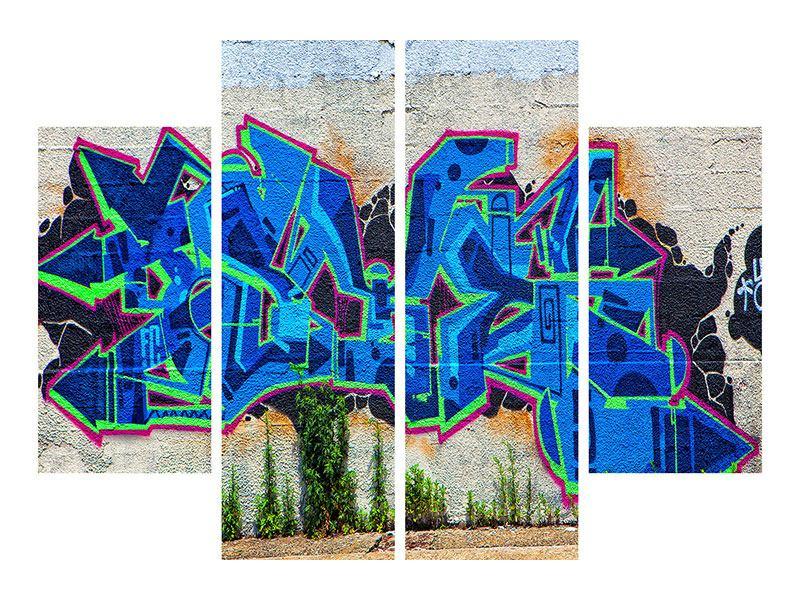 Hartschaumbild 4-teilig Graffiti NYC