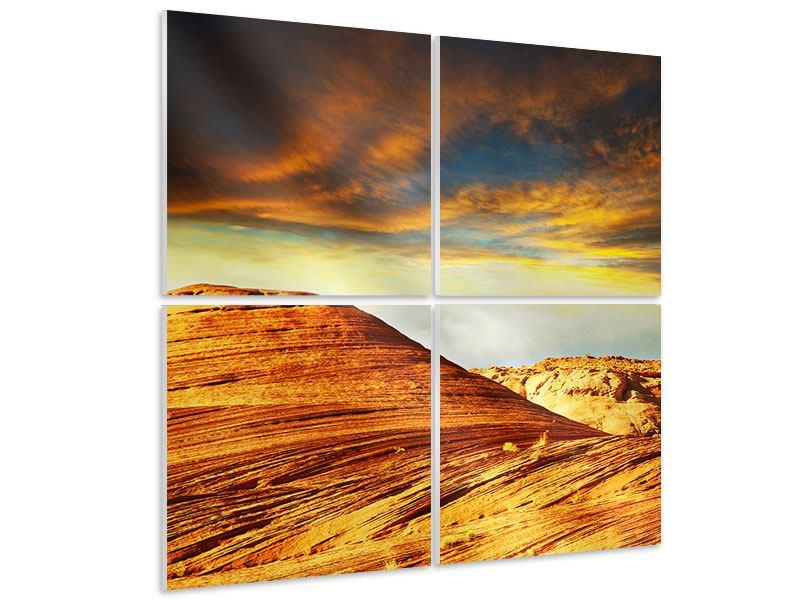 Hartschaumbild 4-teilig Die Wüste