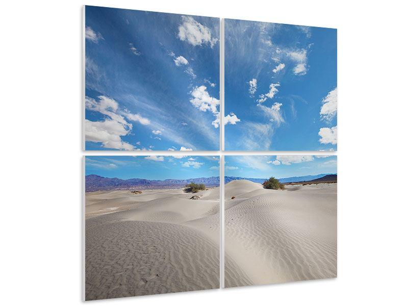 Hartschaumbild 4-teilig Wüstenlandschaft