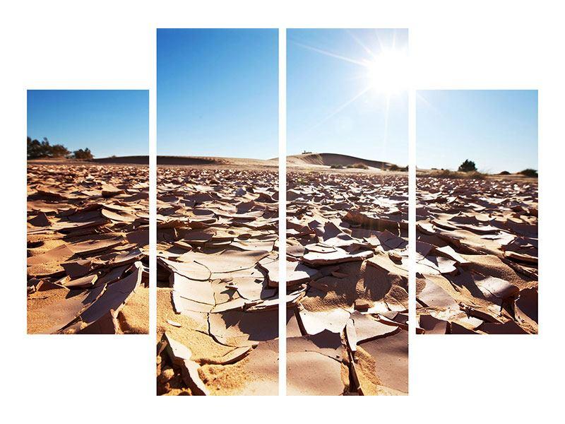 Hartschaumbild 4-teilig Dürre