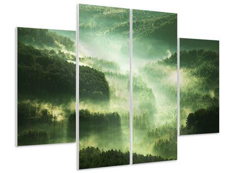 Hartschaumbild 4-teilig Über den Wäldern