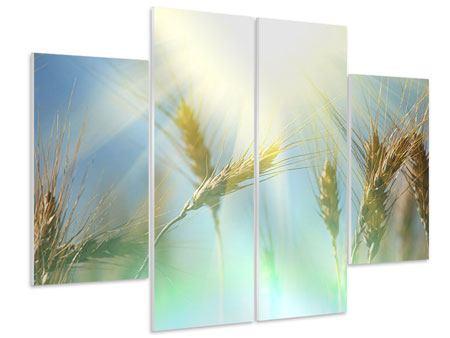 Hartschaumbild 4-teilig König des Getreides