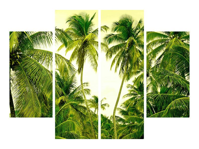 Hartschaumbild 4-teilig Reif für die Insel
