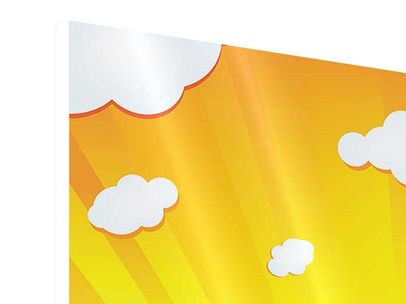 Hartschaumbild 4-teilig Die Sonne geht auf