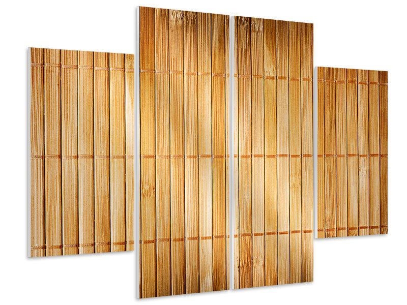 Hartschaumbild 4-teilig Bambusrohre