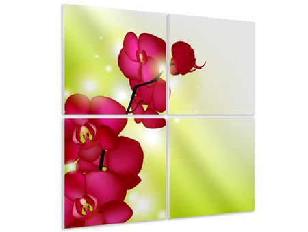 Hartschaumbild 4-teilig Heiligtum der Orchidee