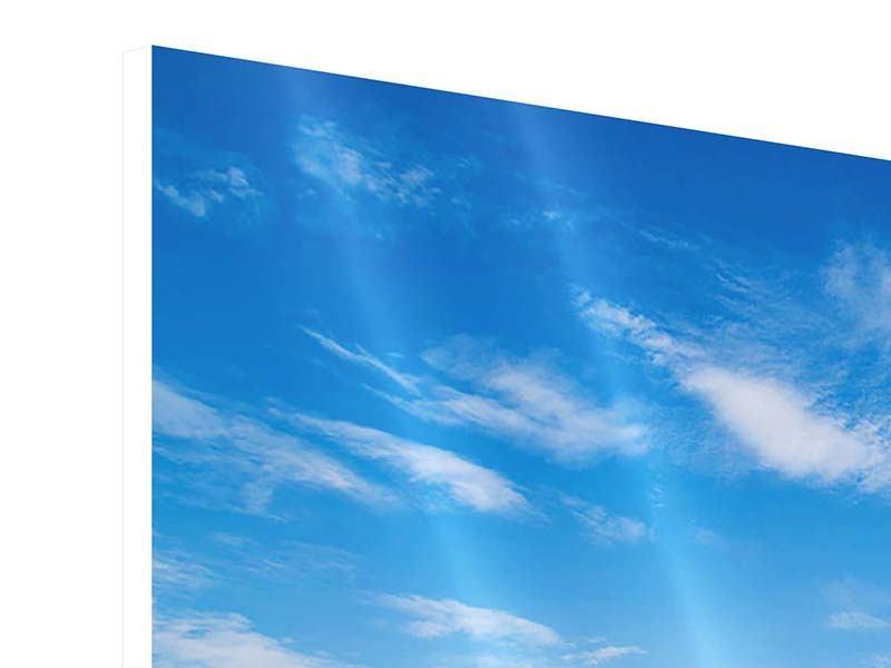 Hartschaumbild 4-teilig Blaue Lagune