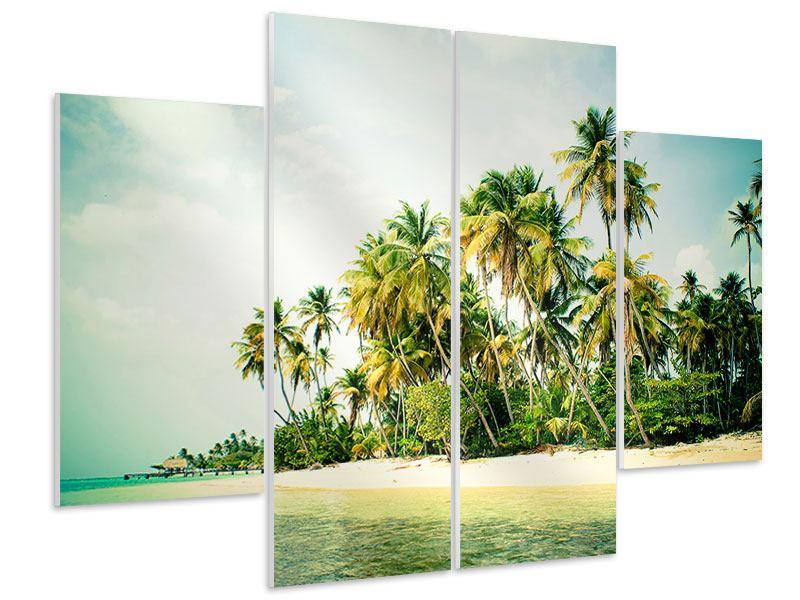 Hartschaumbild 4-teilig Tobago Cays