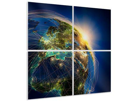 Hartschaumbild 4-teilig Der Planet Erde