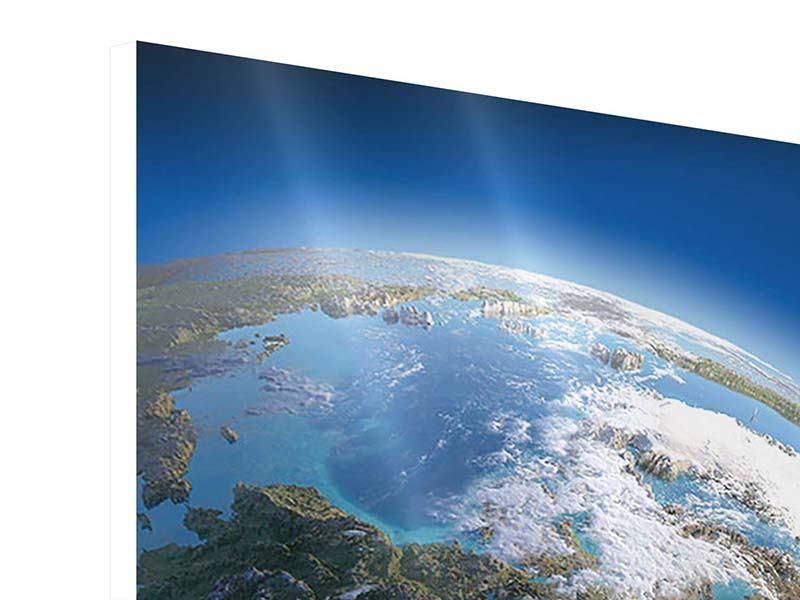 Hartschaumbild 4-teilig Die Erde