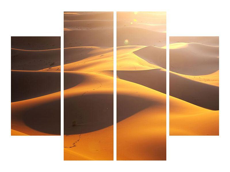 Hartschaumbild 4-teilig Wüstenwanderung