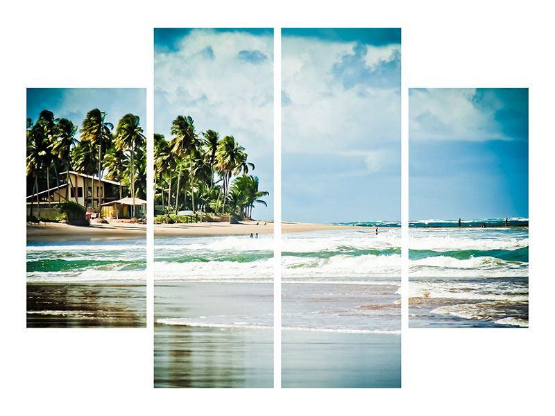 Hartschaumbild 4-teilig The Beach