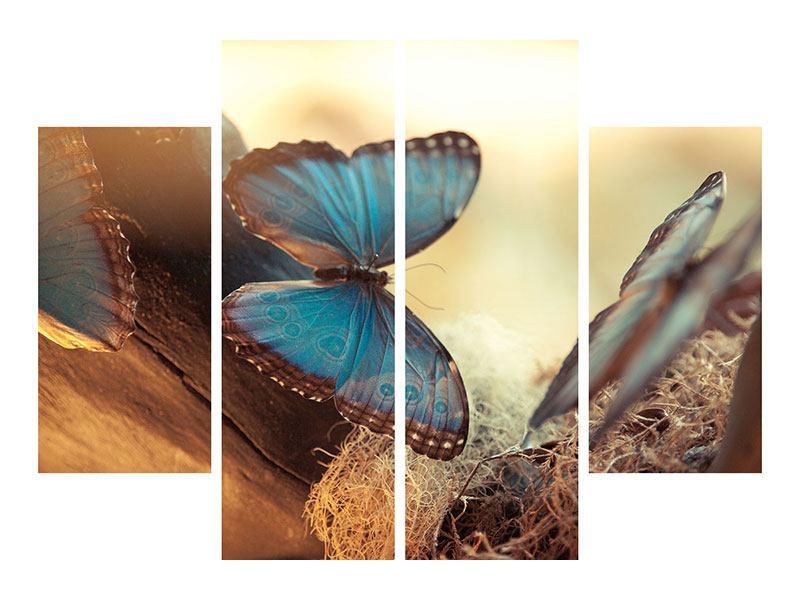 Hartschaumbild 4-teilig Schmetterlinge