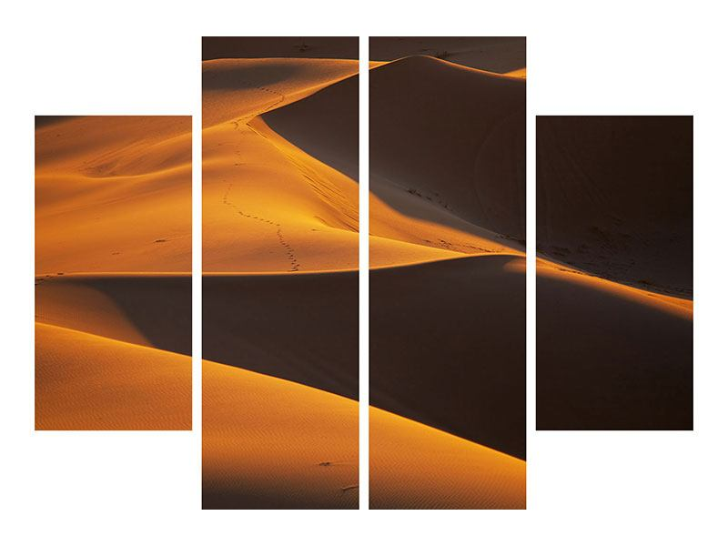 Hartschaumbild 4-teilig Wüstensand