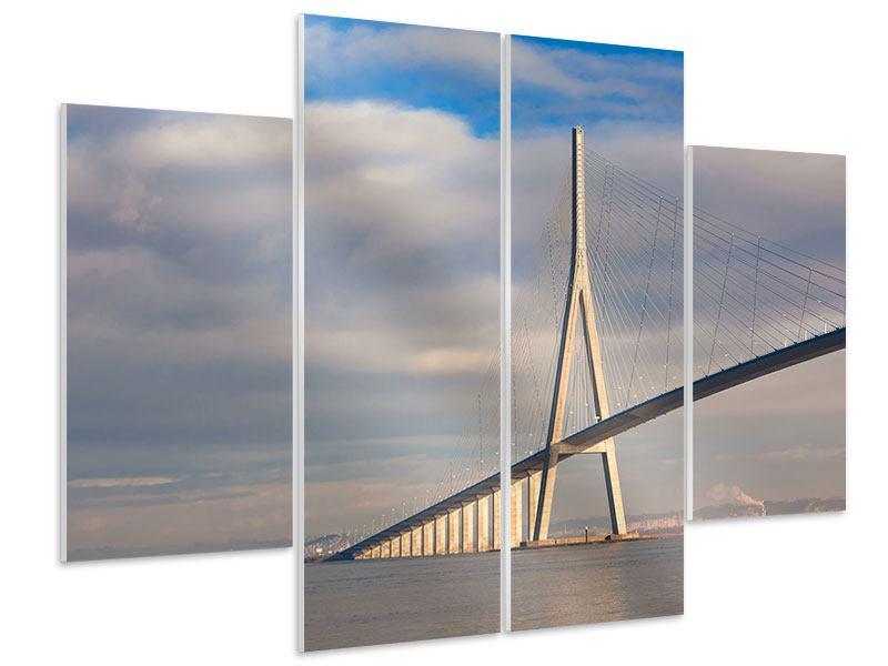Hartschaumbild 4-teilig Pont de Normandie