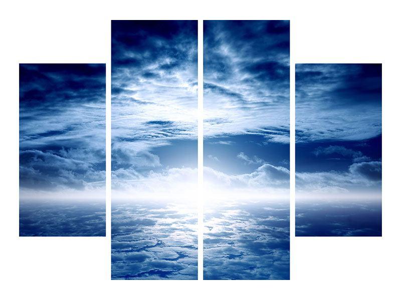 Hartschaumbild 4-teilig Mystischer Himmel