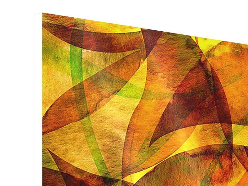 Hartschaumbild 4-teilig Abstraktes Gemälde