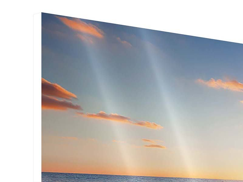 Hartschaumbild 4-teilig Sonnenuntergang am Horizont