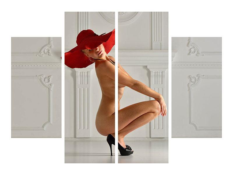 Hartschaumbild 4-teilig Nude-Diva