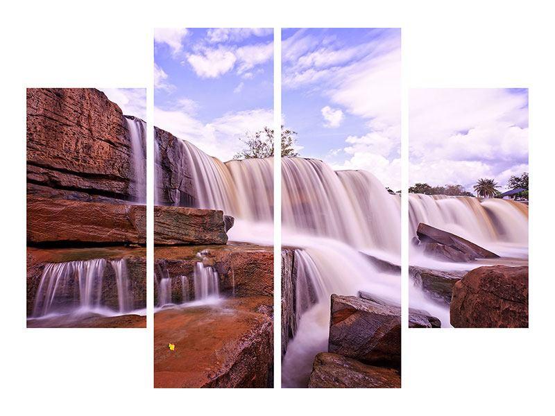Hartschaumbild 4-teilig Himmlischer Wasserfall