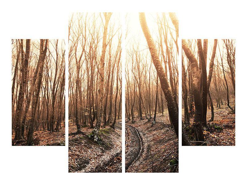 Hartschaumbild 4-teilig Der kahle Wald