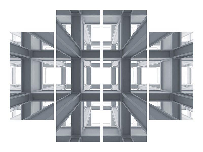 Hartschaumbild 4-teilig Räume