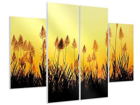 Hartschaumbild 4-teilig Die Blumen des Feldes