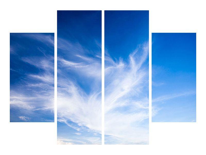 Hartschaumbild 4-teilig Schleierwolken