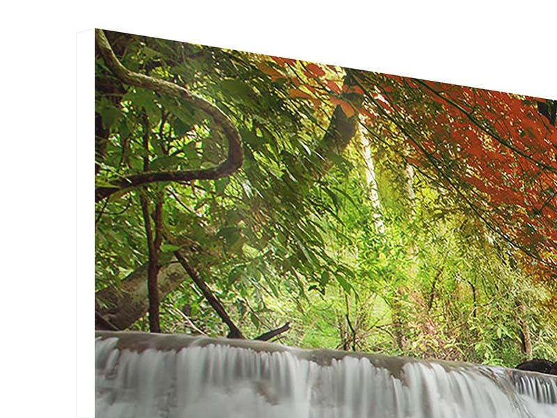 Hartschaumbild 4-teilig Erawan Wasserfall