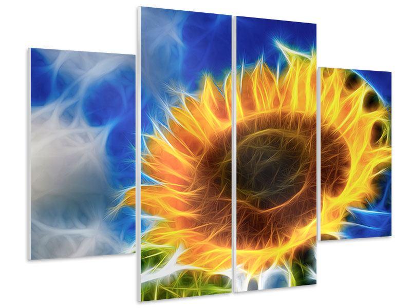 Hartschaumbild 4-teilig Der Sonne entgegen