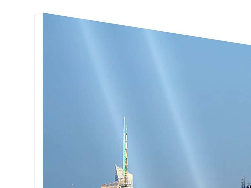 Hartschaumbild 4-teilig Skyline Midtown Manhattan
