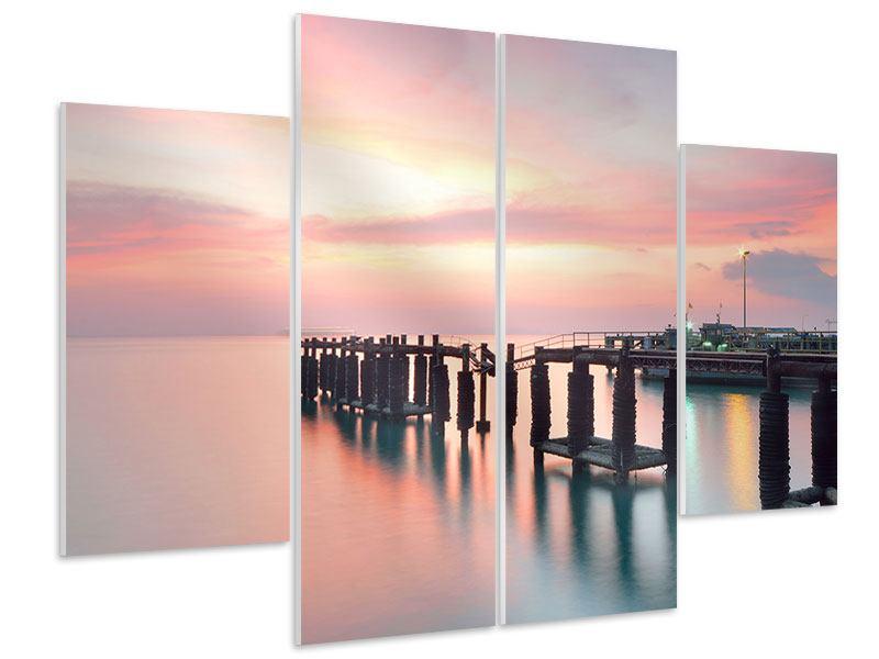 Hartschaumbild 4-teilig Der beruhigende Sonnenuntergang