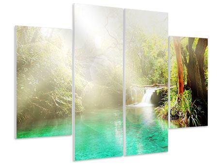 Hartschaumbild 4-teilig Die grüne Lagune