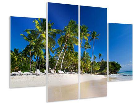 Hartschaumbild 4-teilig Aloha