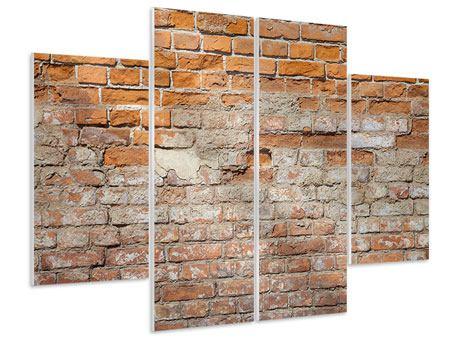 Hartschaumbild 4-teilig Alte Klagemauer