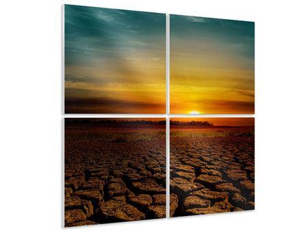Hartschaumbild 4-teilig Afrikas Dürre
