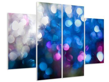 Hartschaumbild 4-teilig Abstraktes Licht
