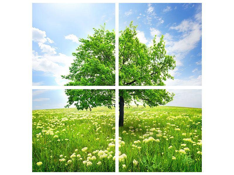 Hartschaumbild 4-teilig Der Baum