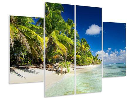 Hartschaumbild 4-teilig Die einsame Insel
