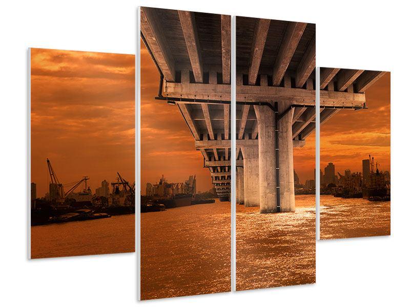 Hartschaumbild 4-teilig Die Brücke