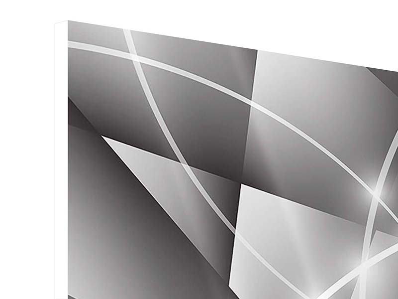 Hartschaumbild 4-teilig Geometrie