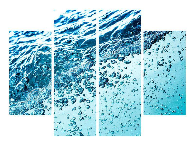 Hartschaumbild 4-teilig Wasser in Bewegung