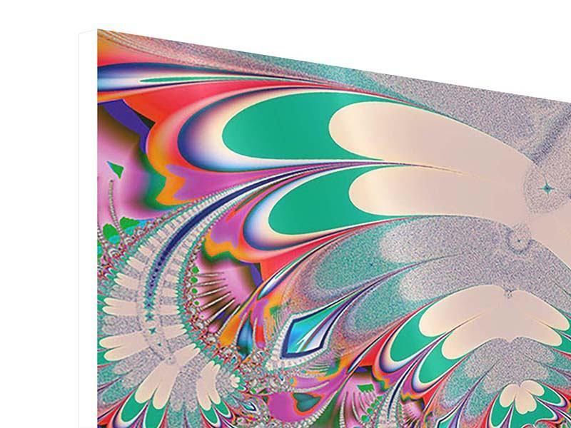 Hartschaumbild 4-teilig Fraktal Design