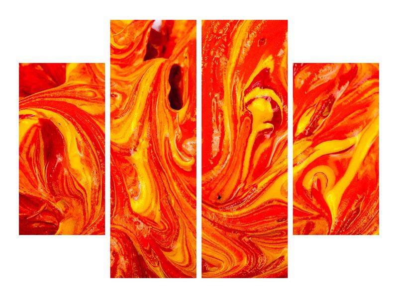 Hartschaumbild 4-teilig Wandgemälde